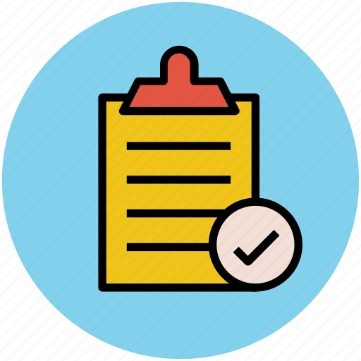 checklist, clipboard, diet chart, document, list checked, list verified, report icon