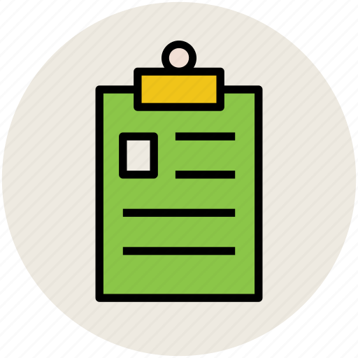 checklist, clipboard, diet chart, document, list, report icon