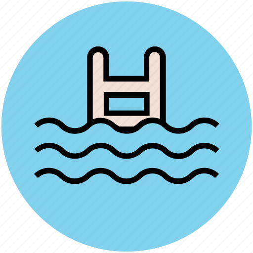 leisure activity, relaxation, spa, summer, swimming, swimming pool icon