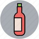 alcohol, beverage, bottle, champagne bottle, drink, wine bottle icon