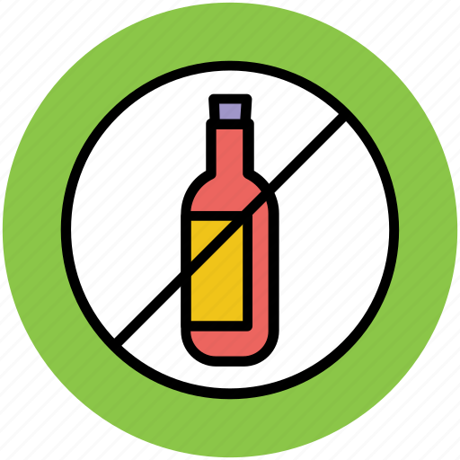 bottle restriction, forbidden, no drink, no water bottle, prohibition icon