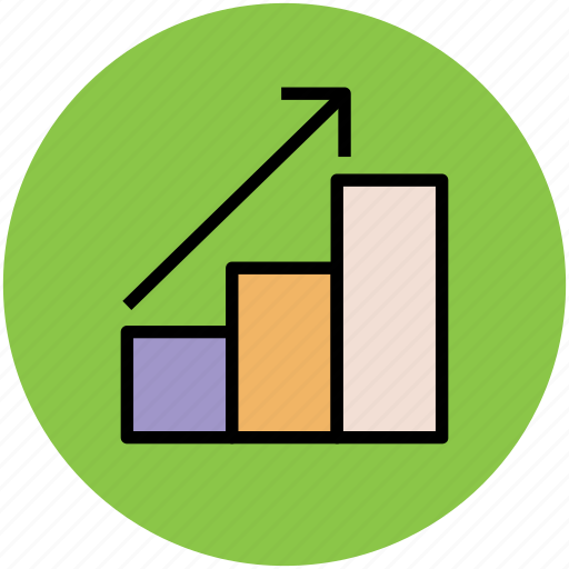 bar chart, graph, profit chart, progress chart, raising bars icon