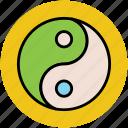 chinese philosophy, chinese symbol, duality, harmony, spirituality, taijitu, taoism, yinyang icon
