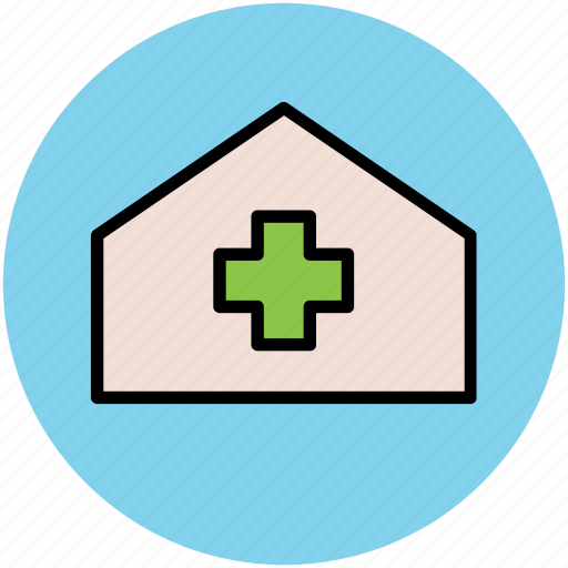 clinic, dispensary, health clinic, hospital, medical center icon