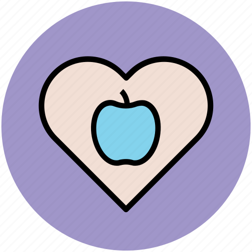 apple heart, health care, healthy diet, healthy food, heart care icon