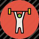 bodybuilder, bodybuilding, exercise, fitness, gym, weightlifter icon