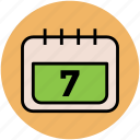calendar, date, day, day book, schedule, wall calendar icon