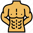abs, bodybuilder, lean, muscular, strong icon