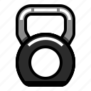 fitness, gym, healthy, kettlebell, weight icon