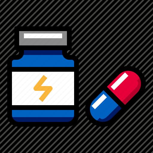 drug, fitness, pill, protein, supplement, vitamin icon
