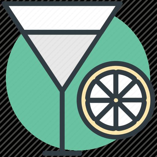 drink, fruit juice, glass, orange juice, orange slice icon