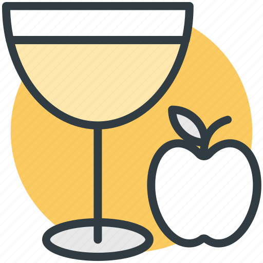 apple, apple juice, drink, fruit juice, glass icon