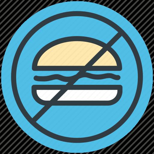 no burger, no fast food, no junk food, stop fast food, unhealthy food icon