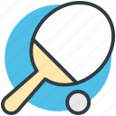 ping pong, sports, table tennis, tennis ball, tennis bat icon