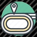 marathon track, race track, runner track, velotrack icon