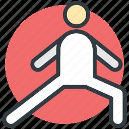 athlete, exercising, player, sports person, sportsman icon