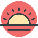 bright day, morning, sunny day, sunrise, sunshine icon