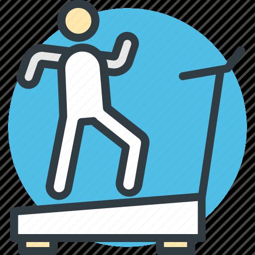 fitness, gym equipment, jogging machine, running machine, treadmill icon