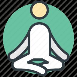 exercise, meditation, relaxation, yoga, yoga posture icon