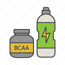 bcaa, drink, food, muscle, nutrition, sport, workout icon