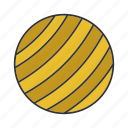 ball, exercise, fitball, fitness, gym, sport, workout icon