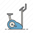bicycle, bike, exercise, fitness, gym, sport, workout icon