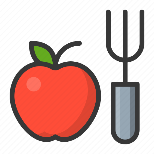 apple, fitness, food, gym, healthy icon