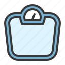 equipment, fitness, gym, weight, weightscale icon