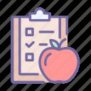 plan, diet, food, checklist, planning, eat