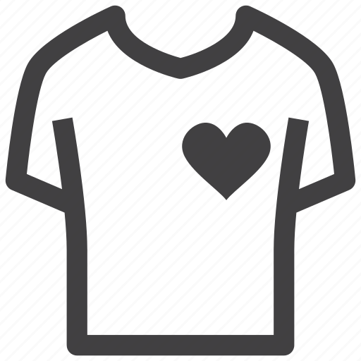Fitness, gym, health, heart, shirt, t-shirt, tshirt icon - Download on Iconfinder