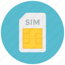 card, mobile, sim icon icon