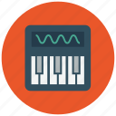 keys, piano, piano key, synthesizer icon icon