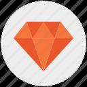 diamond, gemstone, investment, jewelry icon icon