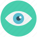 eye, look, optic, see, view, watch icon icon