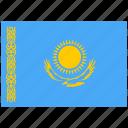 country, flag, kazakhstan, national, world