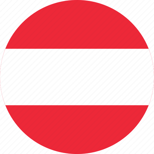 austria, country, earth, flag, map, national, world icon