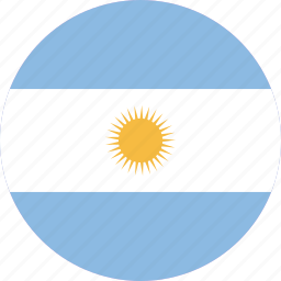 argentina, country, flag, location, map, nation, world icon