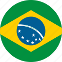 brazil, country, flag, location, map, nation, national icon