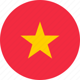flag, location, map, nation, national, vietnames, world icon