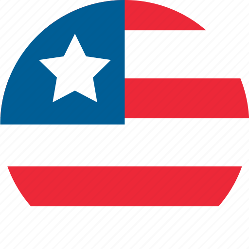country, flag, liberia, location, map, national, world icon