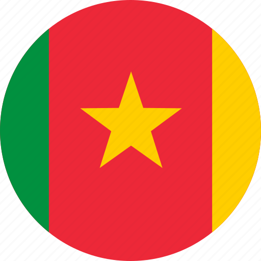 cameroon, country, flag, globe, map, national, world icon