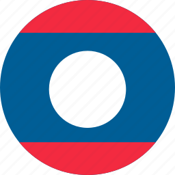 country, flag, laos, location, map, national, world icon