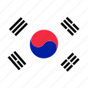 country, flag, korea, location, map, national, navigation icon