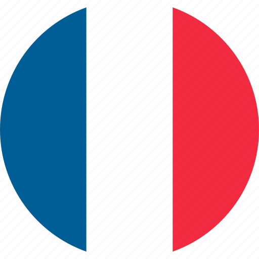 country, flag, france, location, map, national, world icon