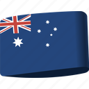 australia, country, flag, flags, global, location, map icon