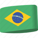 brazil, country, flag, flags, global, location, map icon
