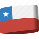 chile, country, flag, flags, global, location, map icon