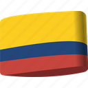 colombia, country, flag, flags, global, location, map