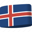 country, flag, flags, global, iceland, location, map icon