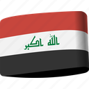 arab, country, flag, flags, iraq, map, national